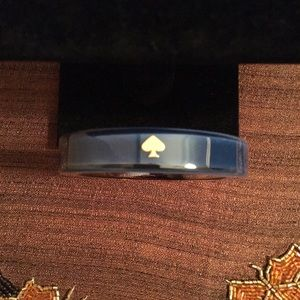 🆕 AUTHENTIC KATE SPADE ACRYLIC NAVY BLUE BANGLE